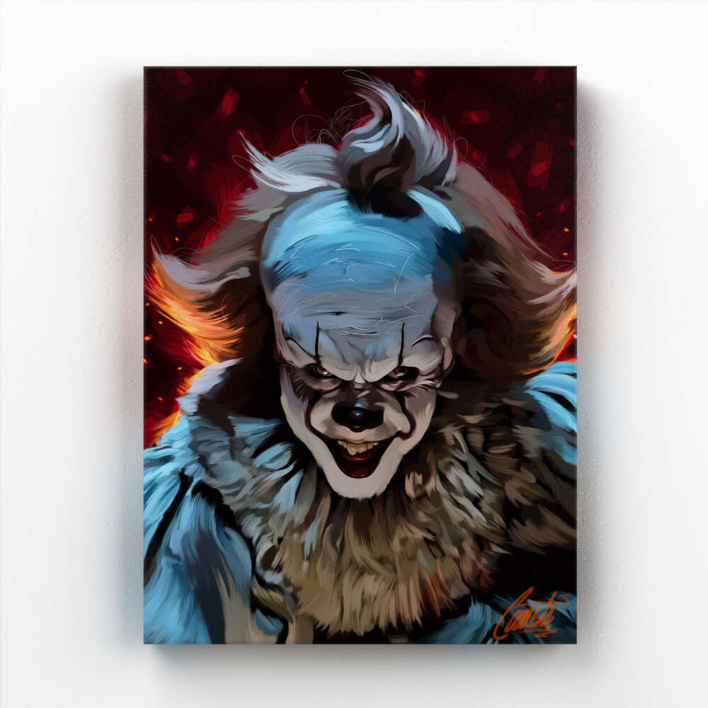 CHILDHOOD by Consti I Bill Skarsgard I Pennywise I IT I Portrait I Painting