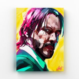 DOGLOVER by Consti I Keanu Reeves I John Wick I Portrait I Painting