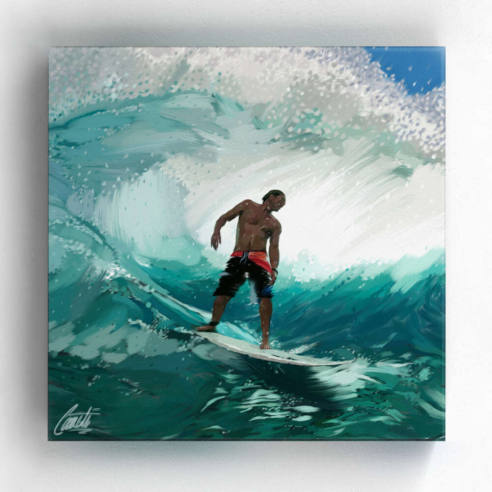 KISSED by Consti I Andy Irons I Surfer I Wave I Art I Portrait I Painting