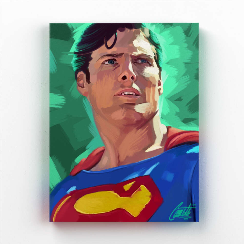 KRYPTONITE by Consti I Christopher Reeve I Superman I Portrait I Painting