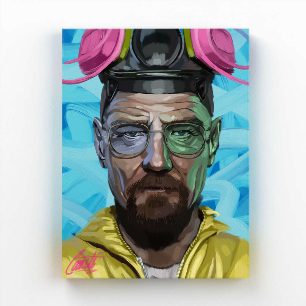MORALITY by Consti I Bryan Cranston I Walter White I Portrait I Paintings